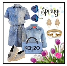 """""""Kenzo Spring"""" by hastypudding ❤ liked on Polyvore featuring Kenzo, Diane Von Furstenberg, Charlotte Russe, Christian Dior, kenzo, fashionset, spring2016 and AmiciMei"""