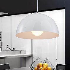Light in the box decente minimalista um pingente de luz com sombra semi-esférica – BRL R$ 228,04