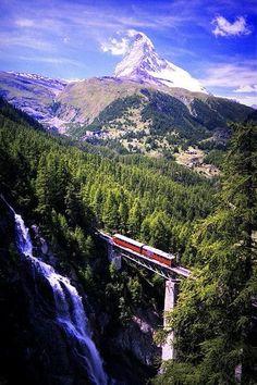 Mountain rail Zermatt Switzerland
