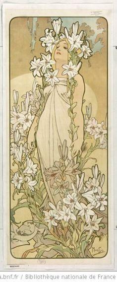 [les Fleurs] : panneaux décoratifs / Mucha - 1