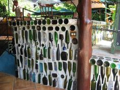 Bottle wall at Costa Verde I lke the way the bottles are placed in this one.