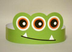 3-Eyed Monster Paper Crown Printable