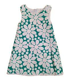 Deux par Deux Retro Floral Shift Dress Green from Deux par Deux - Canada at Pumpkinheads