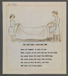 Get-well sketch and poem to Charles Prendergast by J. Andre Smith at Williams College Museum of Art.
