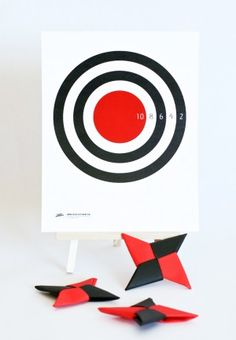 DIY Ninja Star Throwing Game and more ninja ideas at PagingSupermom.com #ninja…