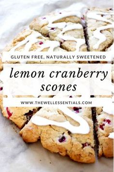 Apple Discover THE BEST Lemon Cranberry Gluten Free Scones Recipe (Dairy Free Option) You will never believe that these scones are gluten free. They are the perfect combination of soft and flakey and may be the only scone recipe you will ever need. Gf Recipes, Gluten Free Recipes, Spinach Recipes, Cooking Recipes, Healthy Recipes, Scone Recipes, Potluck Recipes, Lemon Recipes, Healthy Sweets