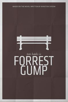 "Iconic image from the film ""Forrest Gump"" from which the titled character narrates large parts of the film to various passersby. Not sure of the background colour for this poster however. Forrest Gump, Minimal Movie Posters, Minimal Poster, Simple Poster, Love Movie, I Movie, Poster Minimalista, Non Plus Ultra, Bon Film"