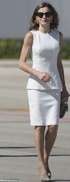 Letizia - white + snakeskin - Hugo Boss skirt and top - Magrit pumps - Lidia Faro handbag - Hugo Boss sunglasses