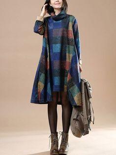 Vrouwen katoenen losse herfstkleding