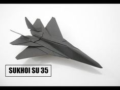 Origami Airplane Jet How To Make a Paper Airplane - Easy Paper Plane Origami Jet Fighter Is Cool - Sukhoi How To Make Paper Airplane - Easy Paper Plane. Origami Ball, Diy Origami, Origami Paper Plane, Origami Airplane, Dollar Origami, Paper Crafts Origami, Useful Origami, Origami Stars, Best Origami
