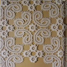 Ivelise Hand Made: pizzo Trama De Crochet irlandese Crochet Motifs, Crochet Doilies, Crochet Flowers, Crochet Stitches, Crochet Patterns, Bruges Lace, Crochet Home, Crochet For Kids, Irish Crochet