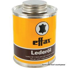 Effol Effax Leather Oil Nourishes cares for and protects all smooth leathers Vaseline genuine whale oil and other valuable leather care substances ensure durability.
