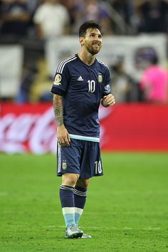 #COPA2016 Lionel Messi of Argentina looks on during the Semifinal match between United States and Argentina at NRG Stadium as part of Copa America Centenario...