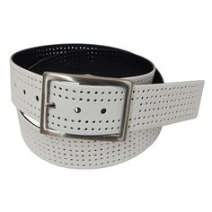 Men's PGA Tour Reversible Perforated Golf Belt, Size: 44, Brown Over