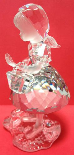 Swarovski Crystal Little Red Riding Hood Figurine No Box Retired Excellent For Sale on eBay