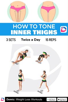 How To Tone Inner Thighs - Fitness Fitness Workouts, Gym Workout Tips, Fitness Workout For Women, Workout Videos, Chest Workout Women, Tone Inner Thighs, Chiropractic Treatment, Full Body Gym Workout, Gym Workout For Beginners