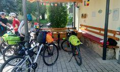 Espacio para descanso de ciclistas. Alemania.