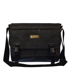 7f75666883e3 Laptop Canvas Leather Messenger - Black260 - CB12N44DL8T