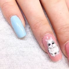 Easter Bunny, Gelish Easter Bunny, Nails, Painting, Ongles, Finger Nails, Painting Art, Paintings, Paint, Sns Nails
