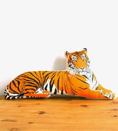 Tiger Pillow   Less fearsome and terrifying, this tiger pillow is more along ...   Throw Pillows