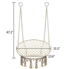 Details about Cotton Rope Hammock Morocco Round Macrame Net Hanging Relax Chair Swing Handmade Picture 9 of 11 Rope Hammock, Diy Hammock, Rope Swing, Hammock Chair, Relax Chair, Crochet Hammock, Macrame Chairs, Hanging Swing Chair, Macrame Wall Hanging Diy