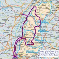 Mapa con el recorrido por la Selva Negra por ti. Stuff To Do, Things To Do, Come Fly With Me, Acv, Eurotrip, Bavaria, Germany Travel, Road Trip, Places To Visit