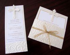 Tarjetasdesign Tarjetas Invitation I Invitation - DIY & Crafts Confirmation Cards, Baptism Cards, Baptism Favors, Boy Baptism, Baptism Ideas, First Communion Cards, Holy Communion Invitations, Christening Invitations, First Holy Communion