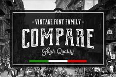 Compare • Font Family by Vintage Voyage Design Co. on @creativemarket