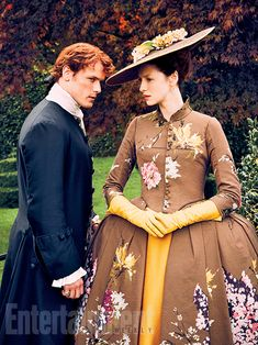 Sam Heughan and Caitriona Balfe look stunning in costume for season 2 of #Outlander!