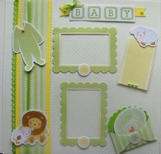Gender Neutral Baby - 12x12 Premade Scrapbook Page via Etsy