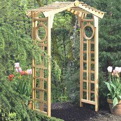 Easy Garden Arbor Designs You Can Build To Add Beauty To Your Backyard Garden Arbor, Easy Garden, Garden Gates, Arbor Gate, Cedar Garden, Wooden Garden, Garden Renovation Ideas, Arbors Trellis, Diy Garden Furniture