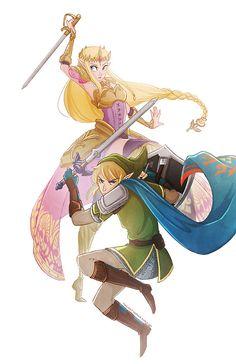 Zelda & Link - #Hyrule_Warriors