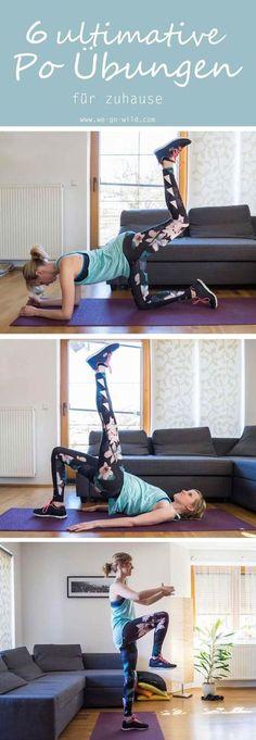 Dieses Bauch Beine Po Training enthält 6 schaffbare Übungen für zuhause. Fitness im Wohnzimmer bringt dir einen knackigen Po. Und das ganz ohne Geräte. #fitnessübungen #training #bauchbeinepo