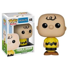 Peanuts Charlie Brown Pop! Vinyl Figure - Funko - Peanuts - Pop! Vinyl Figures at Entertainment Earth