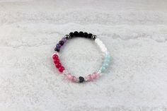 The Hearts & Jewels Collection Limited Edition ♥ Glass, Lava, Metal, Stone, Wood & Swarovski Crystal Heart Bracelet, Essential Oil Diffuser, Lava, Swarovski Crystals, Hearts, Sparkle, Beaded Bracelets, Wellness, Jewels