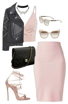 Untitled #664 by rockinstyles on Polyvore featuring polyvore fashion style MANGO Winser London Dsquared2 Chanel WithChic Jimmy Choo clothing
