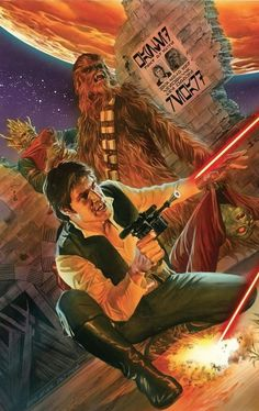 Star Wars Celebration Poster featuring Han Solo and Chewbacca by Alex Ross Star Wars Comics, Star Wars Holonet, Star Wars Han Solo, Marvel Comics, Alex Ross, Comic Book Artists, Comic Artist, Comic Books, Star Wars