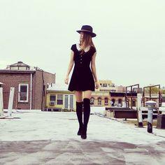 Vintage Inspired Velvet Mini Jumper Dress Xs