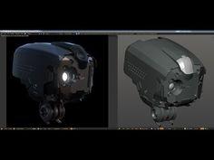 Blender 3d: Mech Head (Deux Trilinea) Timelapse - YouTube