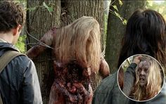 <p>What a way to die, twice. Zombies aren't great runners, so it was right up their alley that this poor soul was tied to a tree for their dining convenience. After a few moments, she was a zombie her…