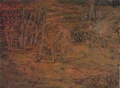 Frank Auerbach (German-British b. 1931) Primrose Hill 1954/55. Saatchi Gallery.