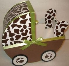Make a statement at your baby shower with these fantastic baby carriage centerpieces. They are elegant, well made with clean lines and neat appearance.  This listing is for (1) Handmade Brown Giraffe
