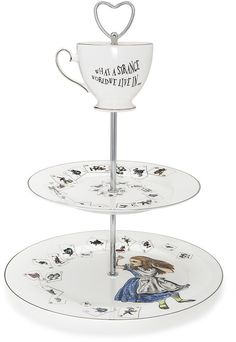Mrs Moore's Vintage Store - Alice in Wonderland 3 Tier Cake Stand