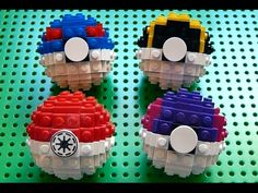 Lego Great Ball, Ultra Ball, and Master Ball (Pokemon) + Instructions Lego Minecraft, Minecraft Houses, Pokemon Lego, Lego Design, Lego Sets, Lego Challenge, Free Lego, Lego Activities, Lego Club