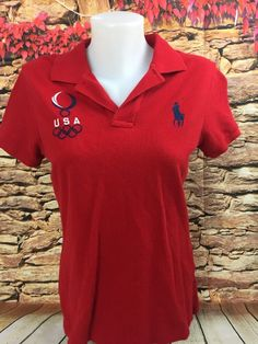 8d93428a7 Beijing Olympics 2008 polo shirt size small to medium black team usa