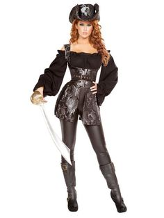 Women's Pirate costume 4692 by Roma Costumes. Women's pirate costumes for Halloween 2016 are here! Pirate of the Night costume 4692 by Roma. Roma costumes are high quality and made in the USA. Character Halloween Costumes, Pirate Halloween Costumes, Adult Costumes, Costumes For Women, Halloween 2016, Halloween Party, Sexy Pirate Costume, Pirate Dress, Wholesale Halloween Costumes