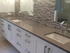 Quartz Countertops - We've done this concrete color before and love it. #LimitlessDesign and #Contest