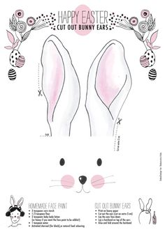 Bunny Ears: Free Printable!  The Little Things... Playing the Easter bunny!