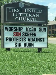 Son screen and sin burn Christian church sign meme  #sinburn #sonscreen