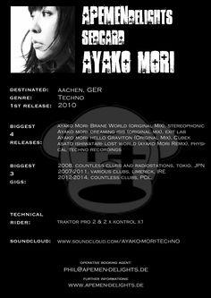 Sedcard: Ayako Mori